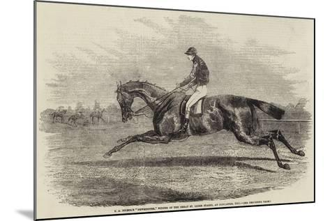 S a Nichol's Newminster, Winner of the Great St Leger Stakes, at Doncaster, 1851--Mounted Giclee Print