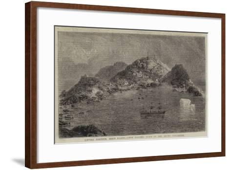 Lievely Harbour, Disco Island, First Halting Place of the Arctic Expedition--Framed Art Print