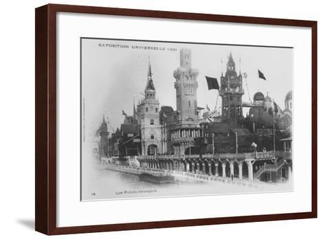Postcard Showing the Foreign Pavilions on the Rue Des Nations at the Exposition Universelle of 1900--Framed Art Print