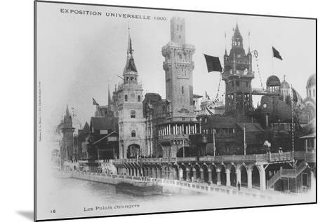 Postcard Showing the Foreign Pavilions on the Rue Des Nations at the Exposition Universelle of 1900--Mounted Giclee Print