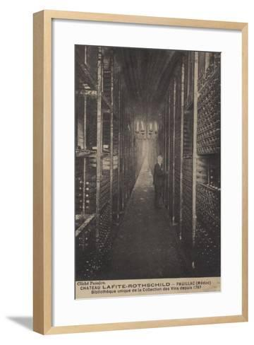 Chateau Lafite-Rothschild, Pauillac, Medoc, Library of Collection of Wines Since 1797--Framed Art Print