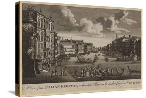A View of an Italian Regatta or Gondola Race on the Grand Canal at Venice, Etc--Stretched Canvas Print
