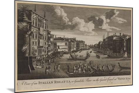 A View of an Italian Regatta or Gondola Race on the Grand Canal at Venice, Etc--Mounted Giclee Print