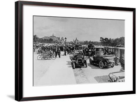 Requisition of Automobiles on the Esplanade Des Invalides, Paris, 16 August 1914--Framed Art Print