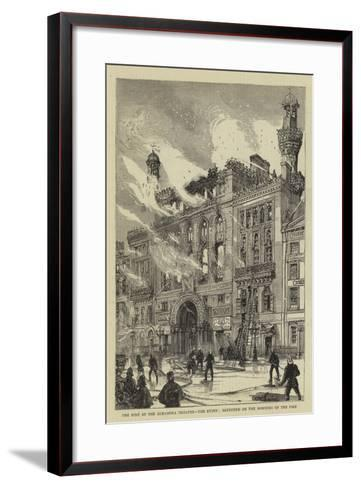 The Fire at the Alhambra Theatre, the Ruins, Sketched on the Morning of the Fire--Framed Art Print