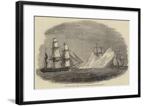Arctic Expedition in Search of Sir John Franklin, First Iceberg Seen, 3 June--Framed Art Print
