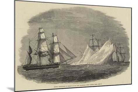 Arctic Expedition in Search of Sir John Franklin, First Iceberg Seen, 3 June--Mounted Giclee Print