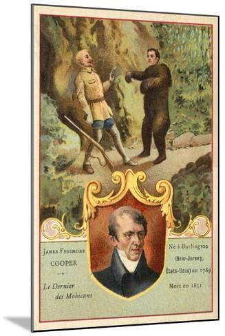 James Fenimore Cooper, American Novelist, and a Scene from Last of the Mohicans--Mounted Giclee Print