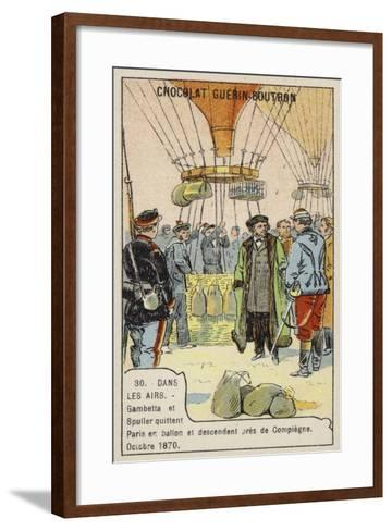 Gambetta and Spuller's Escape from the Siege of Paris by Balloon, October 1870--Framed Art Print