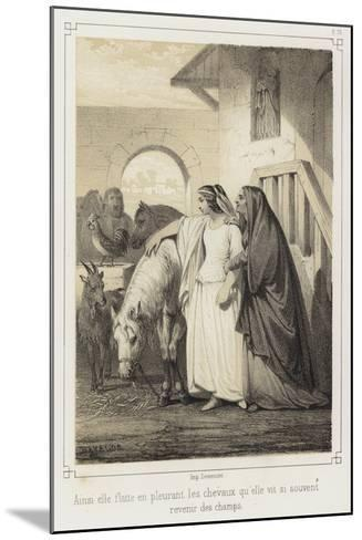 Crying, She Stroked the Horses That She So Often Saw Returning from the Fields--Mounted Giclee Print
