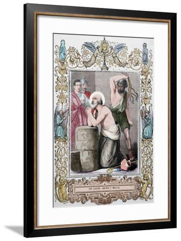Lazarus of Bethany or Saint Lazarus. Jesus Restores Him to Life for Days after His Death. Martyrdom--Framed Art Print