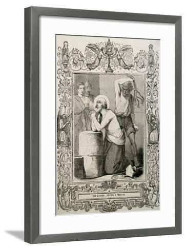 Lazarus of Bethany or Saint Lazarus. Jesus Restores Him to Life for Days after His Death.. Martyrdo--Framed Art Print