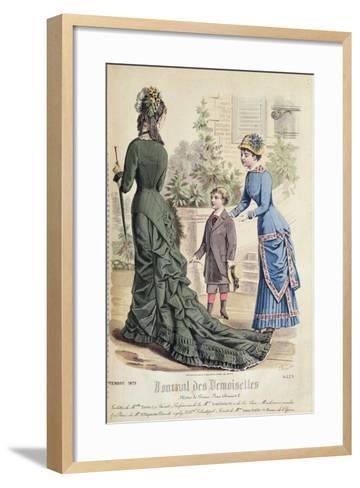Paris Fashion, from 'Journal Des Demoiselles', Published Dupuy Paris, 1879--Framed Art Print
