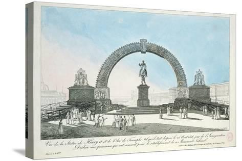 Restoration of the Statue of Henry IV on Pont Neuf, Paris, 25 August 1818--Stretched Canvas Print