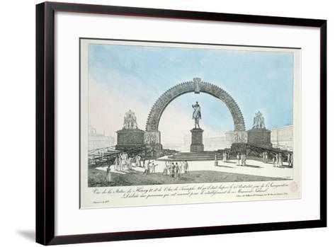 Restoration of the Statue of Henry IV on Pont Neuf, Paris, 25 August 1818--Framed Art Print