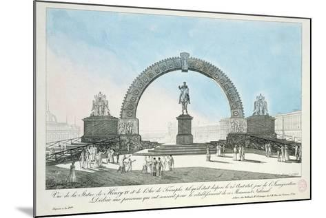 Restoration of the Statue of Henry IV on Pont Neuf, Paris, 25 August 1818--Mounted Giclee Print