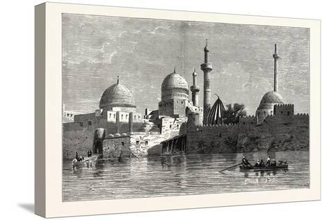 View of Mosul (From the Tigris). Baghdad, the Capital of Iraq, Stands on the Banks of the Tigris--Stretched Canvas Print