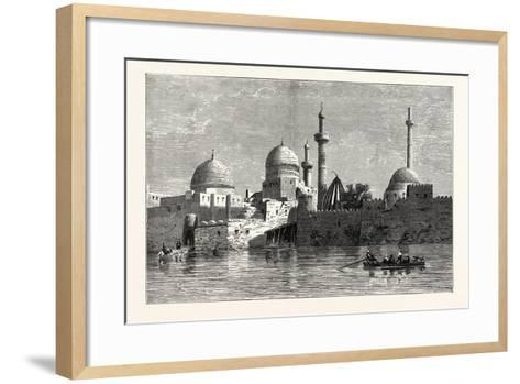 View of Mosul (From the Tigris). Baghdad, the Capital of Iraq, Stands on the Banks of the Tigris--Framed Art Print