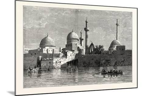 View of Mosul (From the Tigris). Baghdad, the Capital of Iraq, Stands on the Banks of the Tigris--Mounted Giclee Print