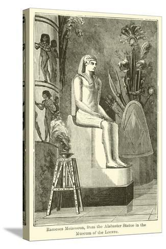 Rameses Meiamoun, from the Alabaster Statue in the Museum of the Louvre--Stretched Canvas Print
