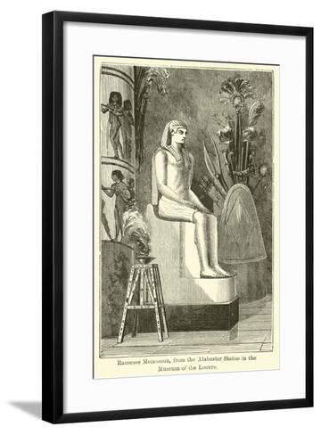Rameses Meiamoun, from the Alabaster Statue in the Museum of the Louvre--Framed Art Print