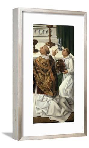 Detail of the Mass of St. Gregory, from an Altarpiece of the Resurrection--Framed Art Print