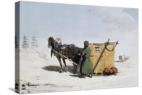 Voizok Kind of Winter Carriage Covered with Mat of Linden Bark, Russia, 19th Century--Stretched Canvas Print