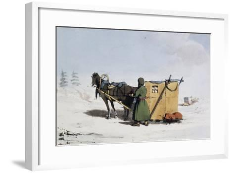 Voizok Kind of Winter Carriage Covered with Mat of Linden Bark, Russia, 19th Century--Framed Art Print