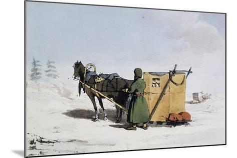 Voizok Kind of Winter Carriage Covered with Mat of Linden Bark, Russia, 19th Century--Mounted Giclee Print
