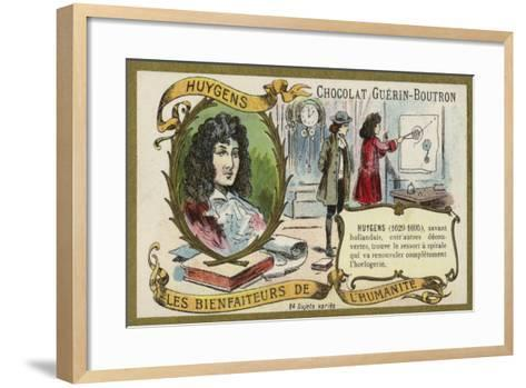 Christiaan Huygens, Dutch Physicist, Mathematician and Astronomer and Horologist--Framed Art Print