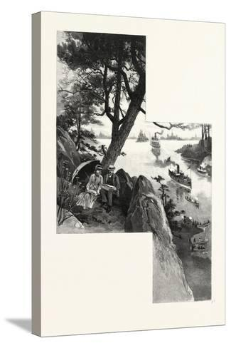 Eastern Ontario, Among the Thousand Islands, Canada, Nineteenth Century--Stretched Canvas Print