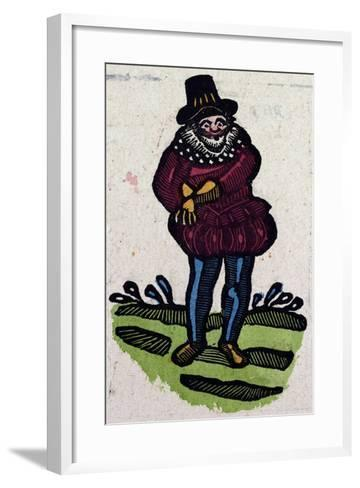 Illustration of English Tales Folk Tales and Ballads. a Man in Colourful Clothes Reaching for Somet--Framed Art Print