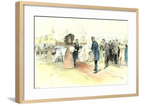 Venice 1897. Opening of the Venice International Art Exhibition. Arrival of the Prince and Princess--Framed Art Print