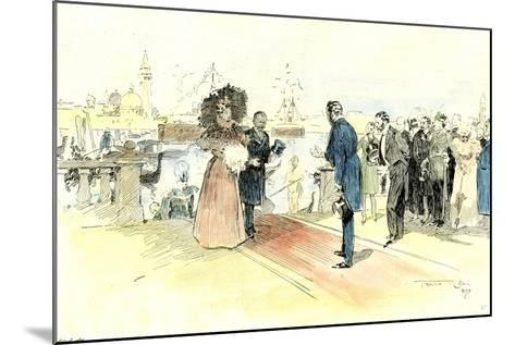 Venice 1897. Opening of the Venice International Art Exhibition. Arrival of the Prince and Princess--Mounted Giclee Print