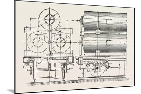 Compressed Oil Gas for Lighting Cars, Steamboats, and Buoys: Car Transporting Compressed Gas, 1882--Mounted Giclee Print