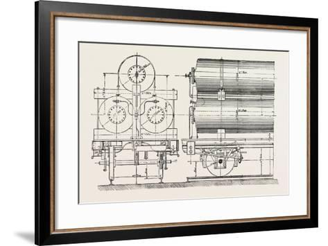 Compressed Oil Gas for Lighting Cars, Steamboats, and Buoys: Car Transporting Compressed Gas, 1882--Framed Art Print