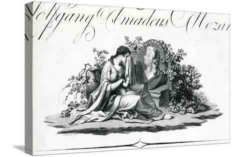Title Page of Part I from 'Oeuvres Complettes' Engraved by Amadeus Wenzel, 1798--Stretched Canvas Print