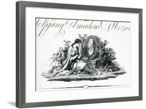 Title Page of Part I from 'Oeuvres Complettes' Engraved by Amadeus Wenzel, 1798--Framed Art Print