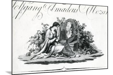 Title Page of Part I from 'Oeuvres Complettes' Engraved by Amadeus Wenzel, 1798--Mounted Giclee Print