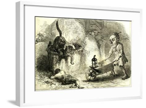 Drury Lane Theatre Grimalkin Thegreat Puss in Boots and the Miller's Son 1869 London Great Britain--Framed Art Print