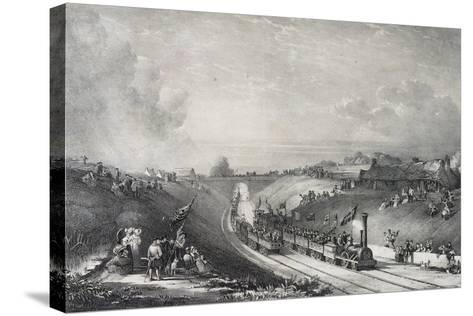 Inauguration of Glasgow-Garnkirk Railway Line, England, UK, 19th Century--Stretched Canvas Print
