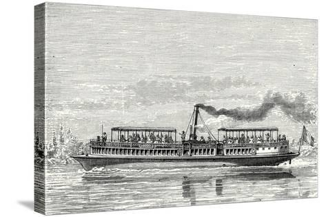 Steamboat Intended to Serve as a Ferry Service on the Seine During the Exposition 1867 (Propeller M--Stretched Canvas Print
