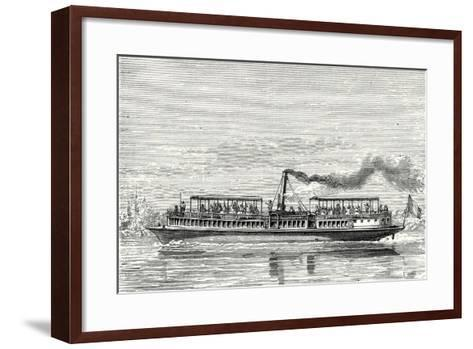 Steamboat Intended to Serve as a Ferry Service on the Seine During the Exposition 1867 (Propeller M--Framed Art Print