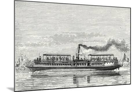 Steamboat Intended to Serve as a Ferry Service on the Seine During the Exposition 1867 (Propeller M--Mounted Giclee Print