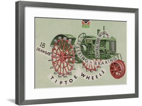 Oliver Farm Equipment Sales Company Tractor Equipped with Tiptoe Wheels--Framed Art Print