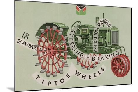 Oliver Farm Equipment Sales Company Tractor Equipped with Tiptoe Wheels--Mounted Giclee Print