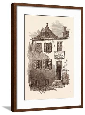 House at Pau in Which Bernadotte Was Born, January 26, 1764. Pyrenees-Atlantiques, France--Framed Art Print