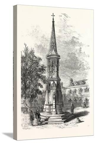 Banbury Cross, Memorial Cross Erected in Honour of the Marriage of the Princess Royal. Uk--Stretched Canvas Print