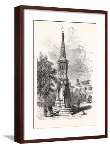 Banbury Cross, Memorial Cross Erected in Honour of the Marriage of the Princess Royal. Uk--Framed Art Print