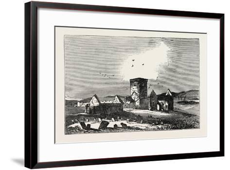 Ruins of Iona, a Small Island in the Inner Hebrides Off the Western Coast of Scotland. Uk--Framed Art Print